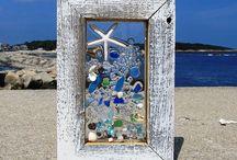 Beach glass creations