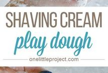 shaving cream playdough