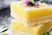Lemon flavoured desserts/cakes