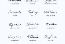 Typography handwriting