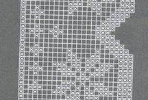 hačkovaná čipka