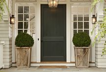 the home . entry / Doors, front porches, planters and more / by Marta Locklear