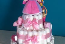 Baby Shower / Torta di pannolini per piccole Principesse in arrivo