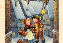 Рождественские и новогодние открытки