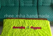 Taplak meja / Uk 45x120 rasfur, free request design