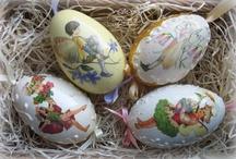 Decoupage - vajíčka