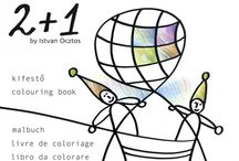 """2 + 1"" Colouring Book for Children"