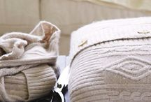 Wool cushions / Tutti alla ricerca di vecchi maglioni.