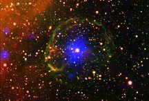 nebula & universe, earth, stars