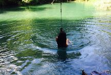 Γαλάζια# λιμνη# μαγεία #⛺️
