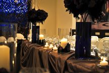 Private Dinner(Αρραβώνας) / Η διακόσμηση βασίστηκε σε σκούρες αποχρώσεις(λόγω εποχής δε θα μπορούσε να είναι κάτι διαφορετικό). Μώβ, καφέ και μαύρο ήταν η βασική παλέτα διακόσμησης για μια ξεχωριστή επίσημη private δεξίωση!!