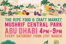 Ripe Food & Craft Market Mushrif Central Park / The Ripe Food & Craft Market in partnership with Al Bayt Mitwahid Association, transforms Mushrif Central Park into an eclectic shopping and eating destination for the whole family every Saturday afternoon.