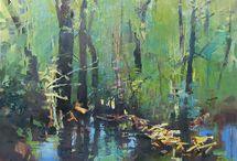Pintura de florestas