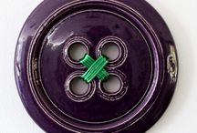 Ceramic button wall art