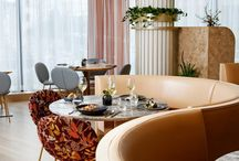 Restaurant, cafe and hotel interiors