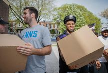 #BaltimoreStrong / The Ravens visited with community members, delivered food and encouraged Frederick Douglass students following the riots in Baltimore City.