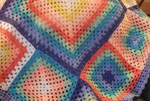 Meus trabalhos - mantas / Croché