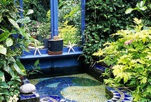 Mosaic water features