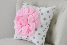 Dahlia Flower Pillows