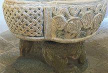 Romanesque baptismal font