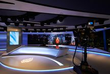 VXV created comprehensive design identities for Al Jazeera's London broadcast studio in The Shard.