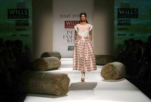 Payal Pratap. WIFW. SS'15. / Printed silks got us excited. The collection also had summerish white with a hint of colour. A comfortable and chic collection overall.