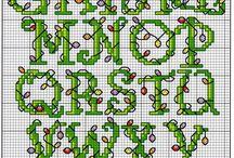 Cross stitch  A-B- C- / by suzanne st-onge