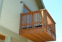 wood balkony