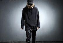 ByTheR- Urban Casual Gothic Black Street Punk Hip Pop Fashion / http://en.byther.kr/