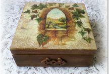 Decoupage Vintage krabičky