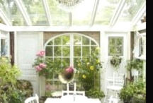 Sunroom, shed, conservatory, porch / by Margy Miller