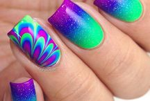 water marble nail art gallery / water marble nail art gallery
