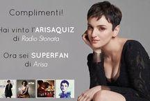 """ARISAQUIZ / Istruzioni: Vengono fatte un paio di domande su Arisa, il più veloce a rispondere tramite un messaggio privato su facebook vince 'l'attestato super fan' da parte di """"Radio Italia""""."""