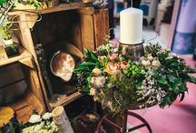 Lancashire Wedding / collection of flowers and greens for Chloe's wedding March 2016