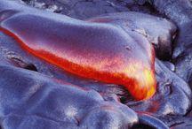 ハワイの壮観な溶岩