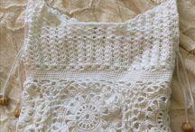 strikket og heklet veske