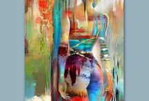 Art / Colourful female form