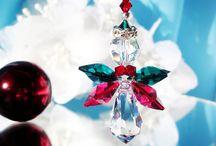 Angel Christmas Ornaments / Swarovski Crystal Christmas Ornaments