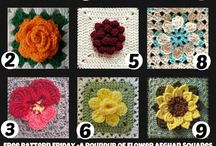 Crochet - Granny squares / Crocheted granny squares only