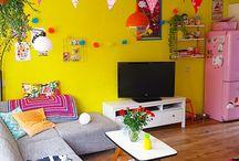 Kleurrijk interieur