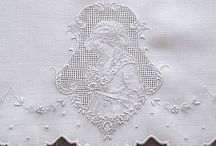 White-on-white embroidery