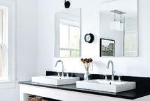 *Badrum / Inspiration till husets två nya badrum