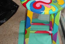 Pinturas en Muebles. / Mesas; sillas, Banquitos, Etc.