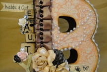 Altered letter / Board inspiration for your next creative crafty projects.