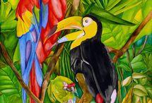 Картины / Картины для интерьера в тропическом стиле