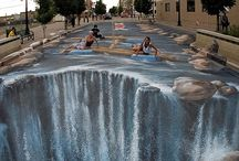 Street Art Beyond Belief / Incredible and Amazing to see and create in dimension like this / by Dichroic GlassMan