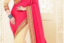 Lehenga Style Saree / Buy lehenga sarees, lehenga style sarees and lehenga saris online. Shop from latest collection of designer lehenga sarees and lehenga style sarees. http://www.heenastyle.com/sarees/lehenga-sarees