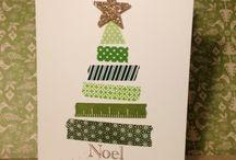 Kerst kaarten met Washi-tape