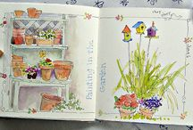 art journals and sketchbooks / by Kelli