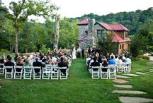 Moonshine Hill Weddings / What a dream wedding - to be in nature surrounded by lush trees, cabins, and a beautiful lake. www.moonshinehill.com